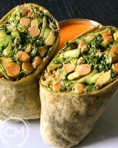 Green Goddess Wrap — Chef Charity Morgan – Famous Last Words Plant Based Diet, Plant Based Recipes, Chefs, Diet Recipes, Vegetarian Recipes, Chickpea Patties, Spinach Tortilla, Masala Spice, Vegan Fish