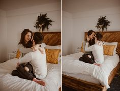 Upper West Side Engagement session - near riverside park - in home session goodness