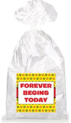 Forever Begins Today Party Favor Bags with Ties - 12pack * Check out the image by visiting the link.