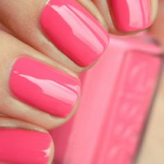 Blissful pink strawberry nails! Fairynails