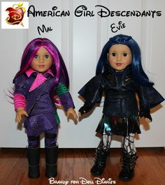 Has Disney's new movie, Descendants, become popular in your house? It has in mine! My youngest asked Santa for American Girl Descendants dolls for Christmas.
