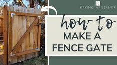 Building A Wooden Gate, Wooden Gates, Backyard Gates, Backyard Landscaping, Simple, Gate Ideas, Walkway, Google Search, Landscape