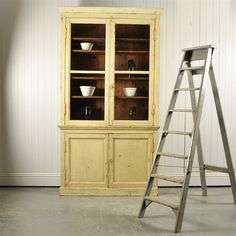 19 th Century Painted French Bookcase - Antique Furniture - Original House