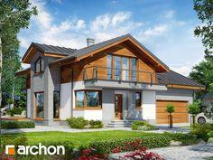 Nowy #projektdomu - #Dom w budlejach 4 (G2). Widok elewacji frontowej.