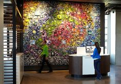 Interior Design Magazine: The ALTEXPO mural, created from over 80,000 Instagram pictures, greets guests at the new ALT Hotel Toronto Pearson. #InteriorDesignMagazine #InteriorDesign #Design #ALTHotelToronto #Hotel #ALTEXPO #Toronto