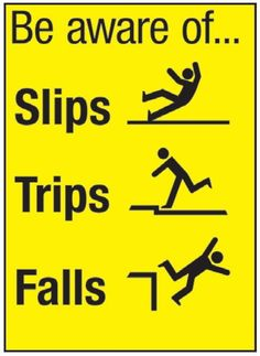 Anybody can fall. Worth getting rid of those 'banana peels' in our houses as we get older.....