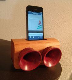 Wooden iPhone speakers