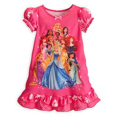Disney Princess Nightshirt for Girls with all 11 Princesses