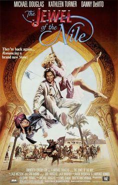 La joya del Nilo - The Jewel of the Nile (1985) | Rocambolesca aventura cambiando la selva por el desierto...