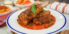 Lidia Bastianich makes crispy pork chops, spicy penne pasta and a chocolate-almond tart to make entertaining easy and delicious. Spicy Pasta, Spicy Tomato Sauce, Homemade Tomato Sauce, Penne Pasta, Lidia Bastianich, Chefs, Pan Fried Pork Chops, Bacon, Pork Chops