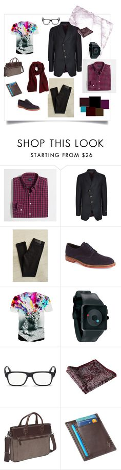 """Men is creative"" by olgasefanova ❤ liked on Polyvore featuring J.Crew, Vivienne Westwood Man, Cheap Monday, To Boot New York, Nixon, Prada, Bellino, 1 Voice, Salvatore Ferragamo and men's fashion"