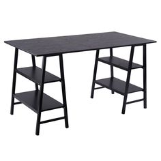 "55"" Computer Desk Writing Table Shelves"