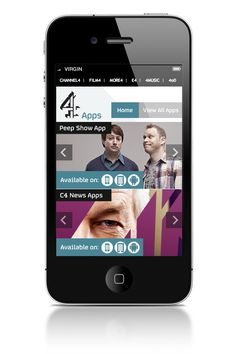 Channel 4 Apps Microsite on the Behance Network