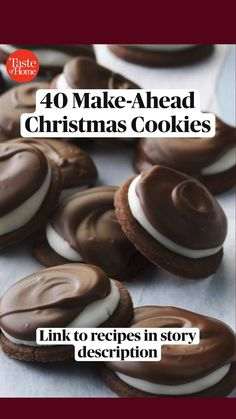 Cookie Desserts, Sweet Desserts, Holiday Desserts, Holiday Baking, Holiday Recipes, Delicious Desserts, Yummy Food, Christmas Cookie Exchange, Christmas Sweets