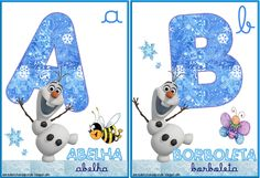 A Arte de Ensinar e Aprender: Cartelas alfabeto temático Frozen