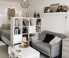 49 Incredible Apartment Decor Ideas For Amazing Apartment Room Home is where the heart is. Home is where you hang your hat. Home sweet home. Apartment Room, Small Living Room Decor, Room Design, Small Room Design, Bedroom Design, Living Room Decor, Home Decor, Apartment Decor, Student Room