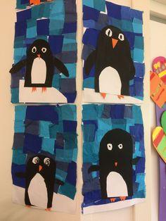 Kunst og håndverk: oppgave om bokstaven p for pingvin.