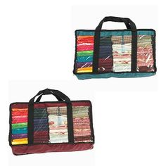Fat Quarter Bags - Green, Navy, Burgundy - Sewing & Craft Club