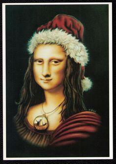 Deck the halls, Mona! - Ginn Mona Claus [Uschi Heusel] (Gioconda / Mona Lisa)