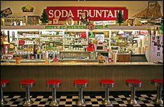 american soda fountain - Google Search
