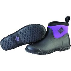 Muck Boots Womens Muckster 11 Ankle Black And Purple
