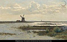 Paul Joseph Constantin GABRIËL (1828-1903, Dutch painter): Near Vreeland