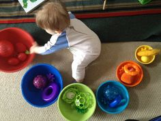 Sorting colors with a 7 month old