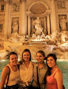 Trevi Fountain in Rome. This is a must-see, must-photograph, and must-throw-coins-in-for-good-luck kind of place when studying abroad in Italy.