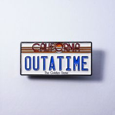 Back To The Future Movie Car License Plate Lapel Pin by ZatoDesigns on Etsy https://www.etsy.com/listing/291697241/back-to-the-future-movie-car-license