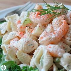 """Shrimp and Pasta Shell Salad 