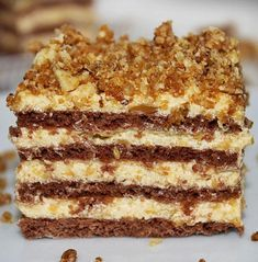 desszert stories and pictures at blikkruzs. Hungarian Desserts, Hungarian Recipes, Sweet Desserts, Delicious Desserts, Yummy Food, Cookie Recipes, Dessert Recipes, Torte Cake, Chocolate Sweets