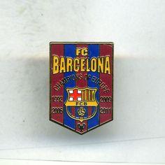FC BARCELONA CHAMPIONS OF EUROPE  SPANISH  FOOTBALL PIN BADGE