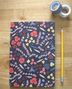 Notebook Floral Patterned A5 Lined / Ruled Notebook-Floral