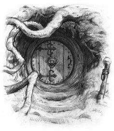 Hobbit House / Casa degli Hobbit - Art by Jean-Baptiste Monge Fantasy Drawings, Fantasy Kunst, Fantasy Art, Pencil Art, Pencil Drawings, Art Drawings, Art Du Croquis, Fairy Art, The Hobbit