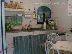Decoração barata: cozinha simples porém muito organizada com idéias simples e acessíveis!