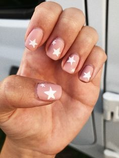 Cool Star Nail Art Designs You Will Love – Many women prefer to attend the hairdresser even though … Aycrlic Nails, Cute Nails, Pretty Nails, Hair And Nails, Coffin Nails, Moon Nails, Diy Nails, Star Nail Designs, Toenail Art Designs