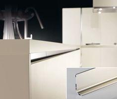 Accesorii moderne pentru Mobila Moderna de Bucatarie cu Profile din Aluminiu Top Freezer Refrigerator, Kitchen Appliances, Home, Diy Kitchen Appliances, Home Appliances, Ad Home, Homes, Kitchen Gadgets, Haus