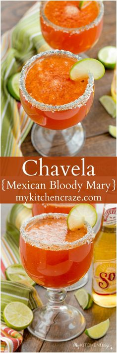 Chavela {Mexican Bloody Mary} ~ http://mykitchencraze.com