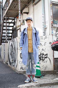 Yuji | Hairdresser Japanese Street Fashion, Korean Fashion, Mens Fashion, Fashion Outfits, Men Street Look, Street Wear, Street Style, Japanese Streetwear, Japan Fashion