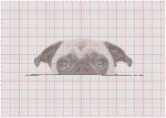 BOGO Cross Stitch Pattern Peek A Pug от ZGCROSSSTITCHPATTERN
