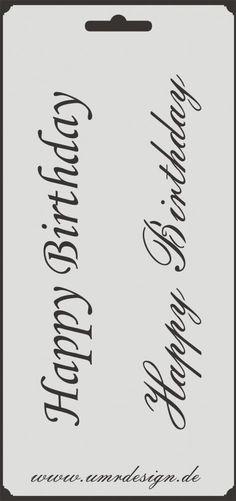 Scrapbook Stencil S-152  Happy Birthday ~ Craft ~ Umr-Design