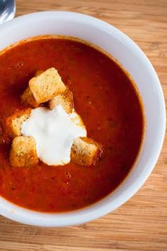 If you're crazy about roasted red pepper/tomato soup like I am, you should give this recipe a try.. I can't wait to!