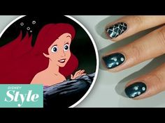 The Little Mermaid Nail Art | Disney Movie Night | Disney Style - http://www.nailtech6.com/the-little-mermaid-nail-art-disney-movie-night-disney-style/