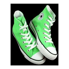 (14) I want some neon green high top Converse so bad!! | Converse... ❤ liked on Polyvore featuring tops, green top and neon green top