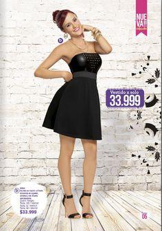 #Vestido con detalle de taches. Vestido ideal para tu prom. El negro combina con todo