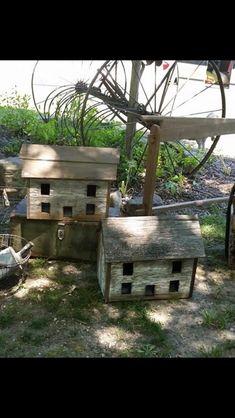Rustic Birdhouses, Garden Inspiration, Bird Houses, Outdoor Decor, Home Decor, Decoration Home, Room Decor, Birdhouses, Nesting Boxes
