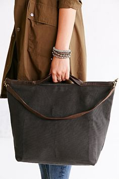 Jo Canvas + Leather Tote Bag - Urban Outfitters Bolsas Jeans 35c2e18581bdd