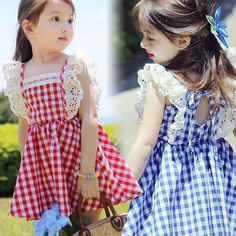 2016 summer baby girls plaid dress kids ruffles school girl dress dress baby clothes toddler tutu baby girls dress with lace-in Dresses from Mother & Kids on Aliexpress.com | Alibaba Group