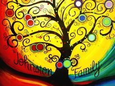 Looking for a totally UNIQUE family tree painting that will showcase your heritage and accent your home decor? My original family tree paintings are Family Tree Art, Willow Tree Figurines, Christmas Tree Background, Pine Tree Tattoo, Tree Wallpaper, Stone Art, Painted Rocks, Painted Silk, Painting Inspiration