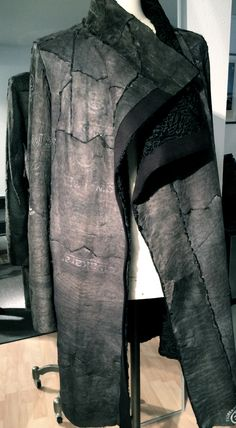 NEWyesterday - reworked Karakul lamb, reversible, one of a kind, mens coat, SLOW FASHION www.new-yesterday.com